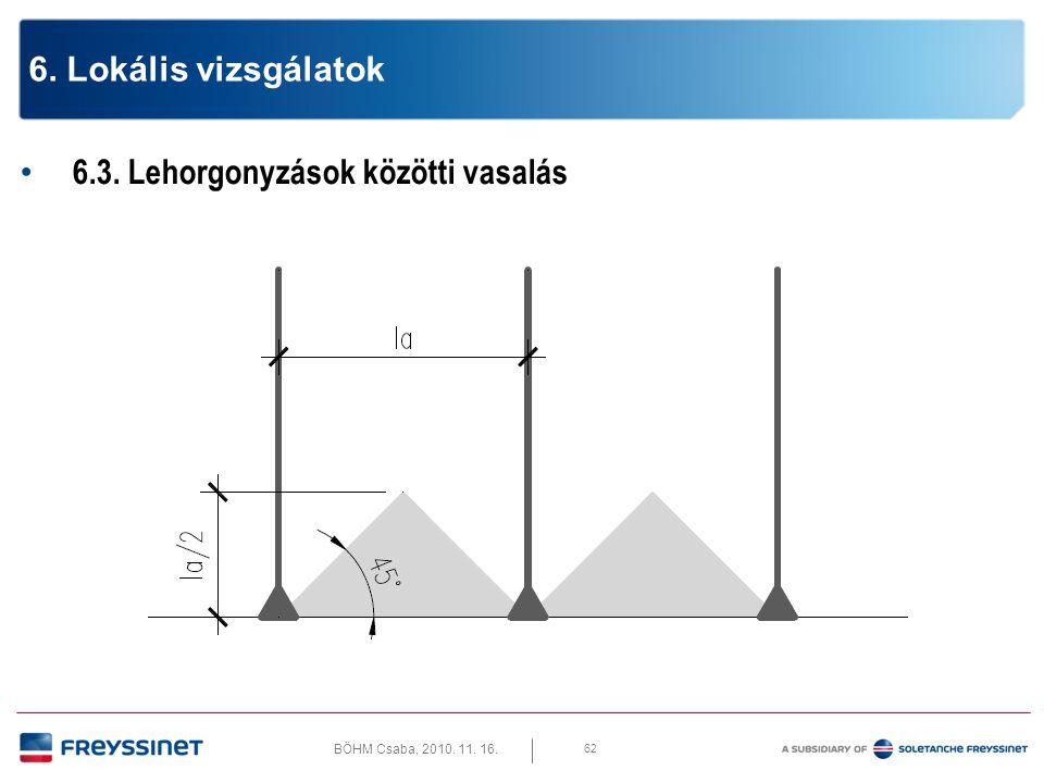 BÖHM Csaba, 2010.11. 16. 6.3. Lehorgonyzások közötti vasalás lemez peremmel párhuzamosan 63 6.
