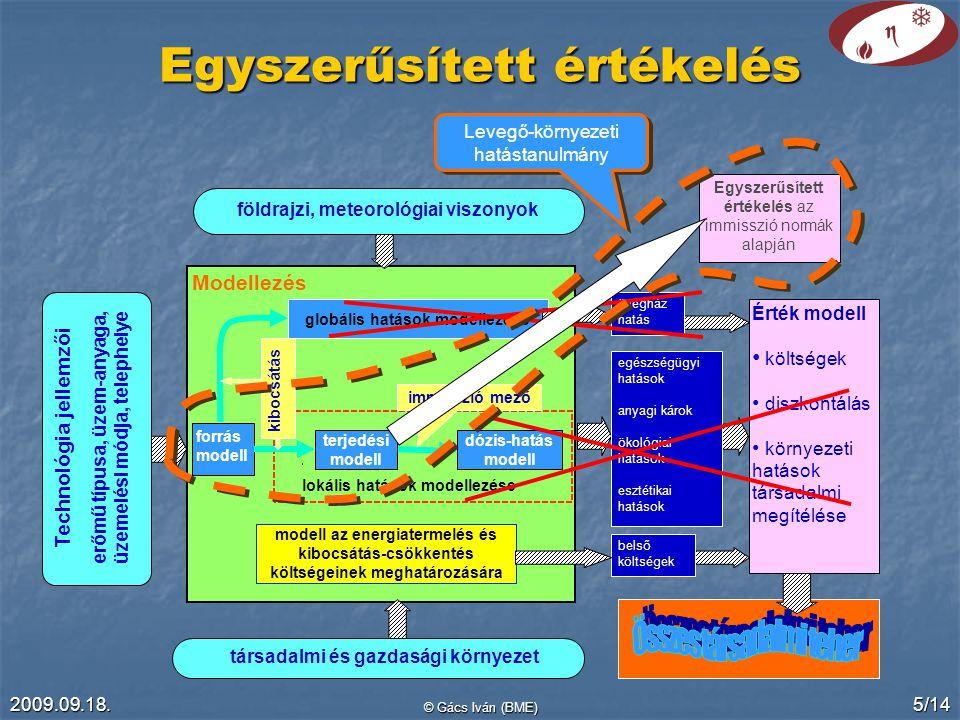 2009.09.18.© Gács Iván (BME) 6/14 Egyszerűsített értékelés 2.