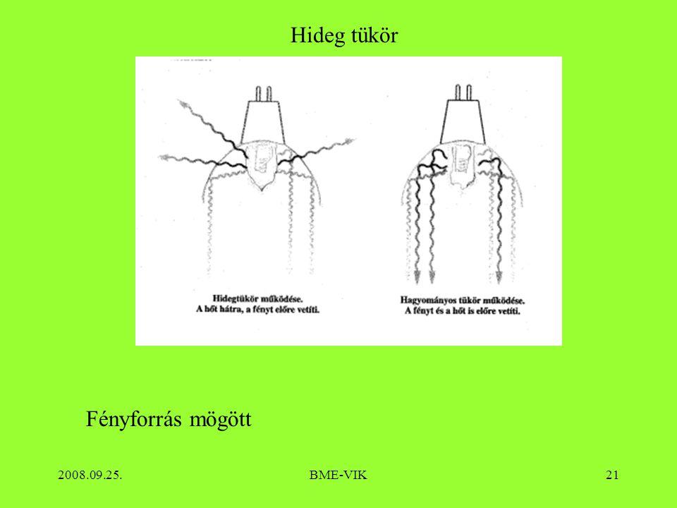 2008.09.25.BME-VIK21 Hideg tükör Fényforrás mögött