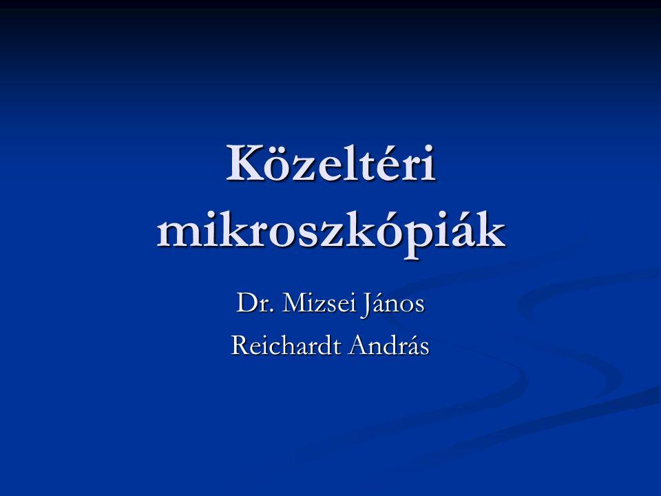Közeltéri mikroszkópiák Dr. Mizsei János Reichardt András