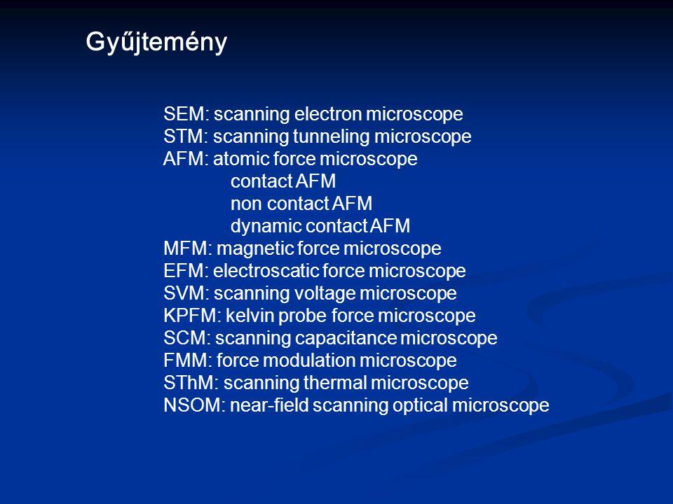 AFM – felvételek 8. Ezüstréteg lehántása AFM tűvel