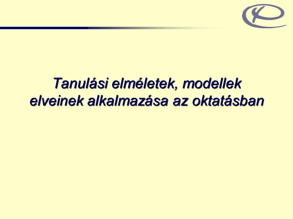 BME Ergonómia és Pszichológia Tanszék www.erg.bme.hu 2 Behaviorista tanuláselméletek / operáns k.
