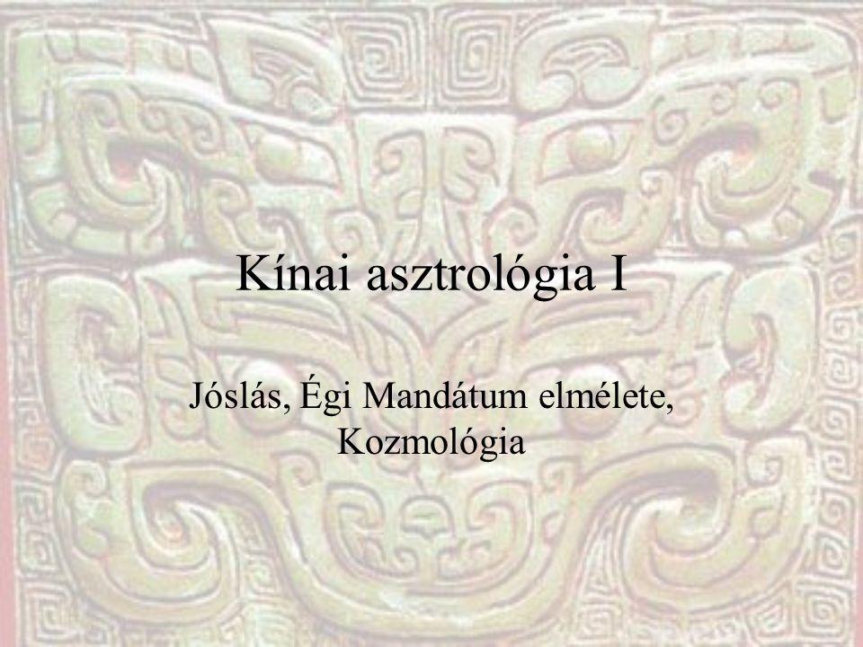 Kínai asztrológia I Jóslás, Égi Mandátum elmélete, Kozmológia