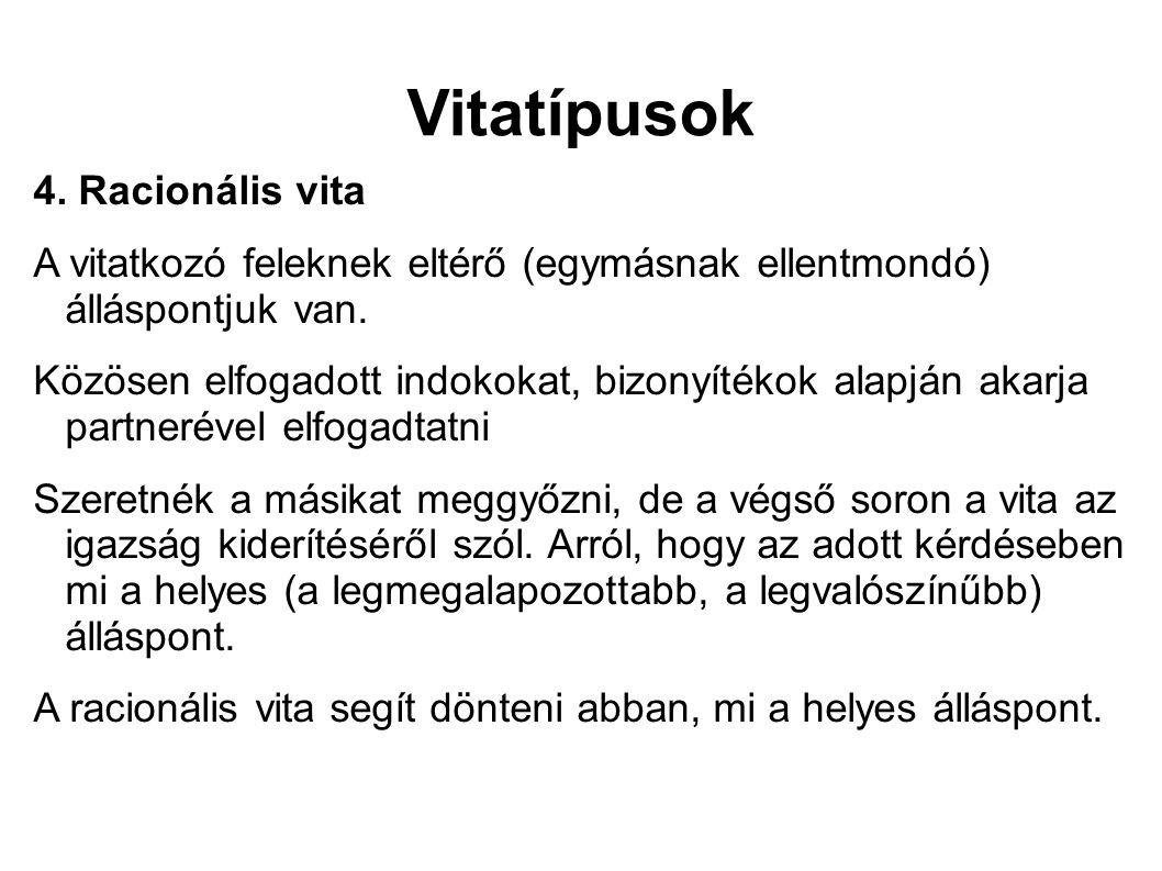 Vitatípusok 4.