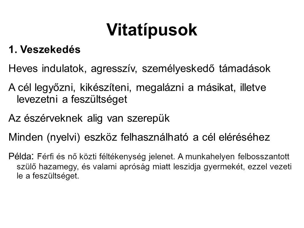 Vitatípusok 1.