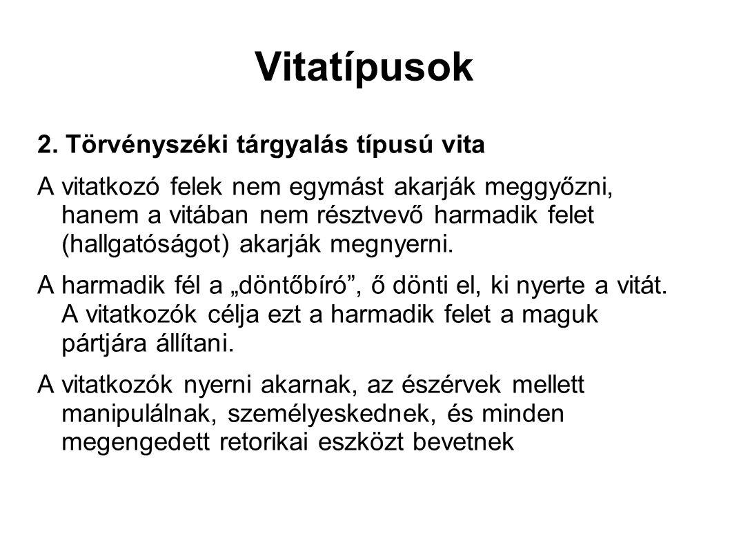 Vitatípusok 2.