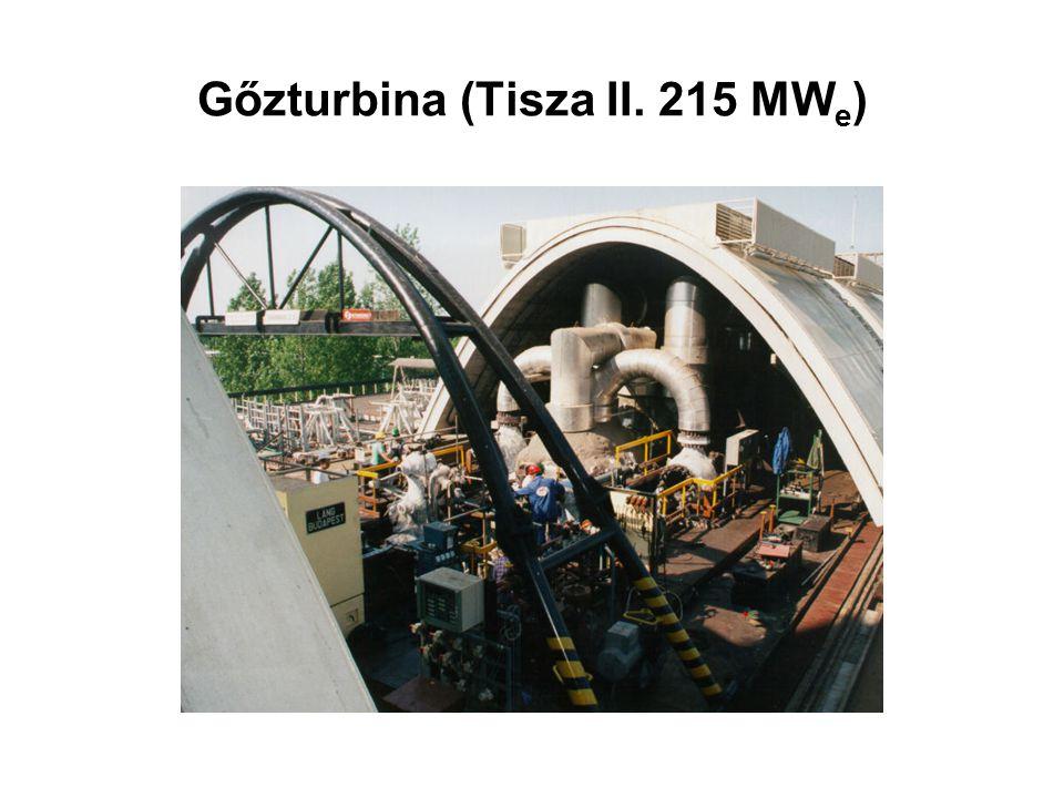 Gőzturbina (Tisza II. 215 MW e )