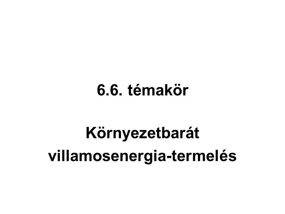 6.6. témakör Környezetbarát villamosenergia-termelés