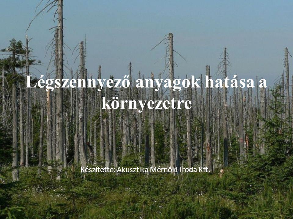 Légszennyező anyagok hatása a környezetre Készítette: Akusztika Mérnöki Iroda Kft.