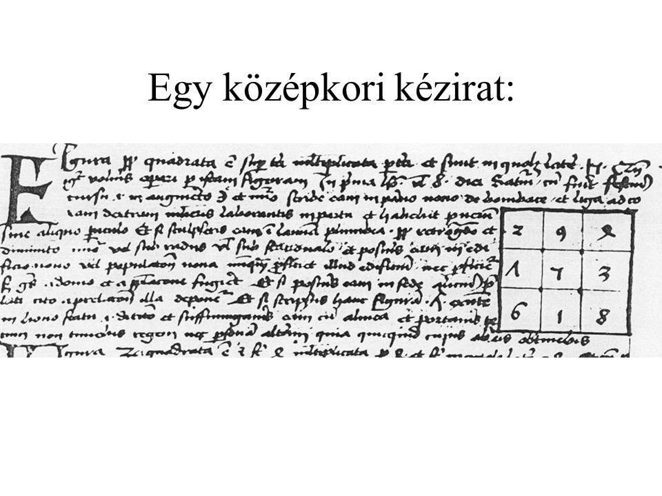 Egy középkori kézirat: