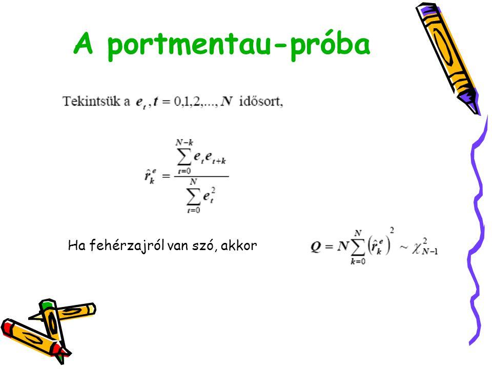 A portmentau-próba Ha fehérzajról van szó, akkor