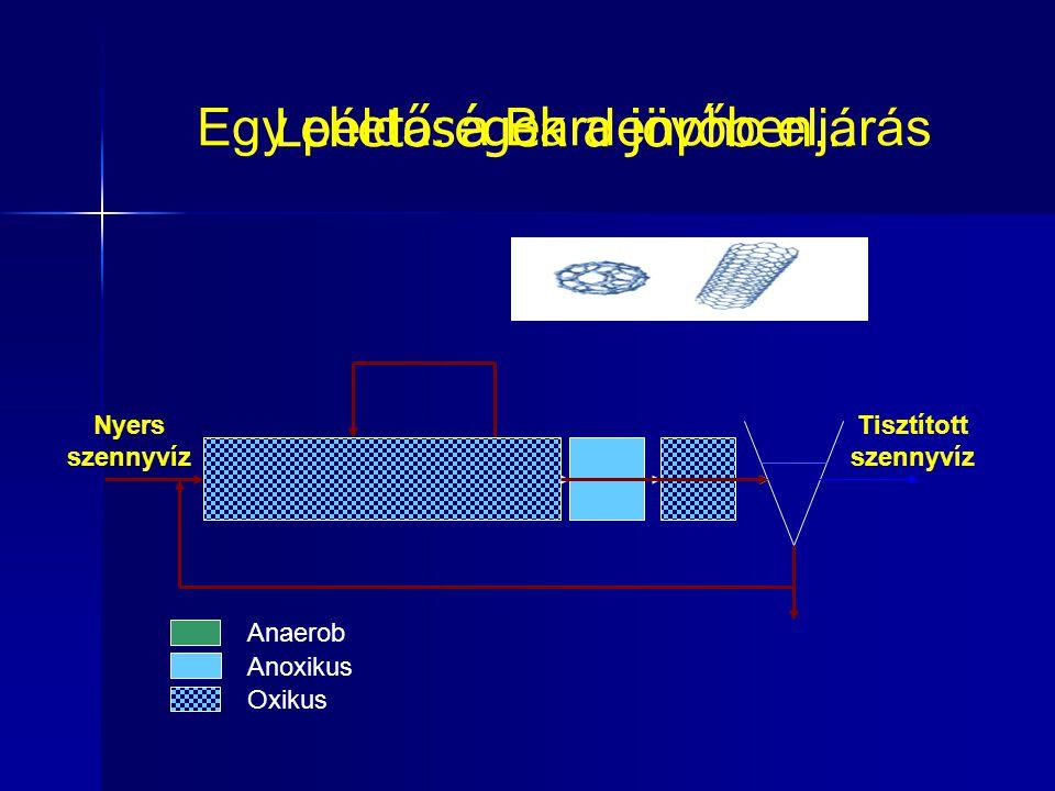 Egy példa: a Bardenpho eljárás Anaerob Anoxikus Oxikus Nyers szennyvíz Tisztított szennyvíz Lehetőségek a jövőben…