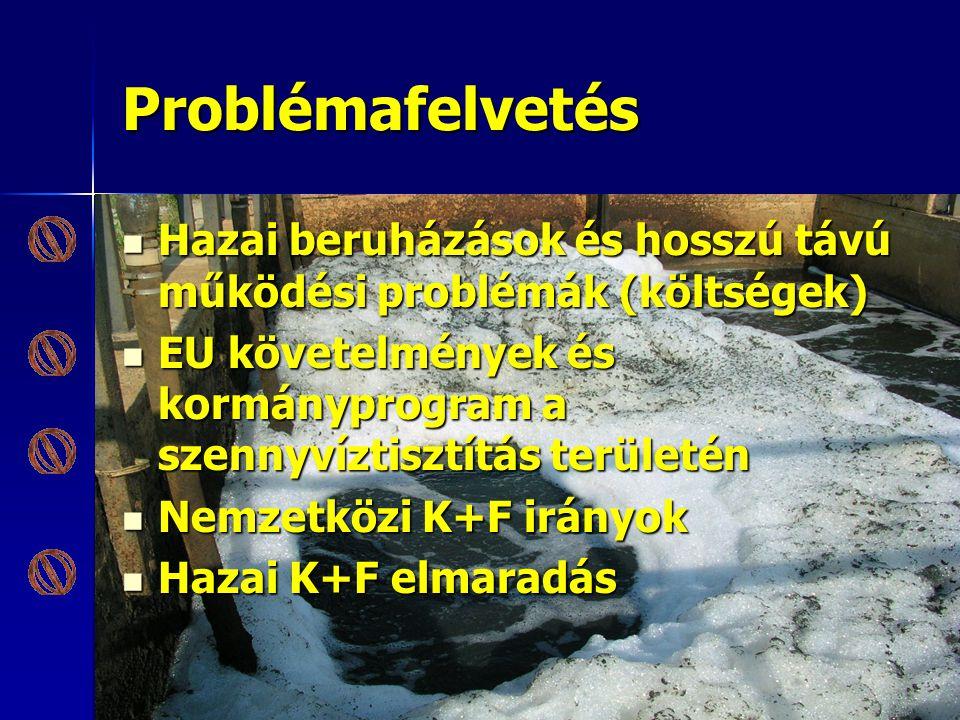 Problémafelvetés Hazai beruházások és hosszú távú működési problémák (költségek) Hazai beruházások és hosszú távú működési problémák (költségek) EU kö