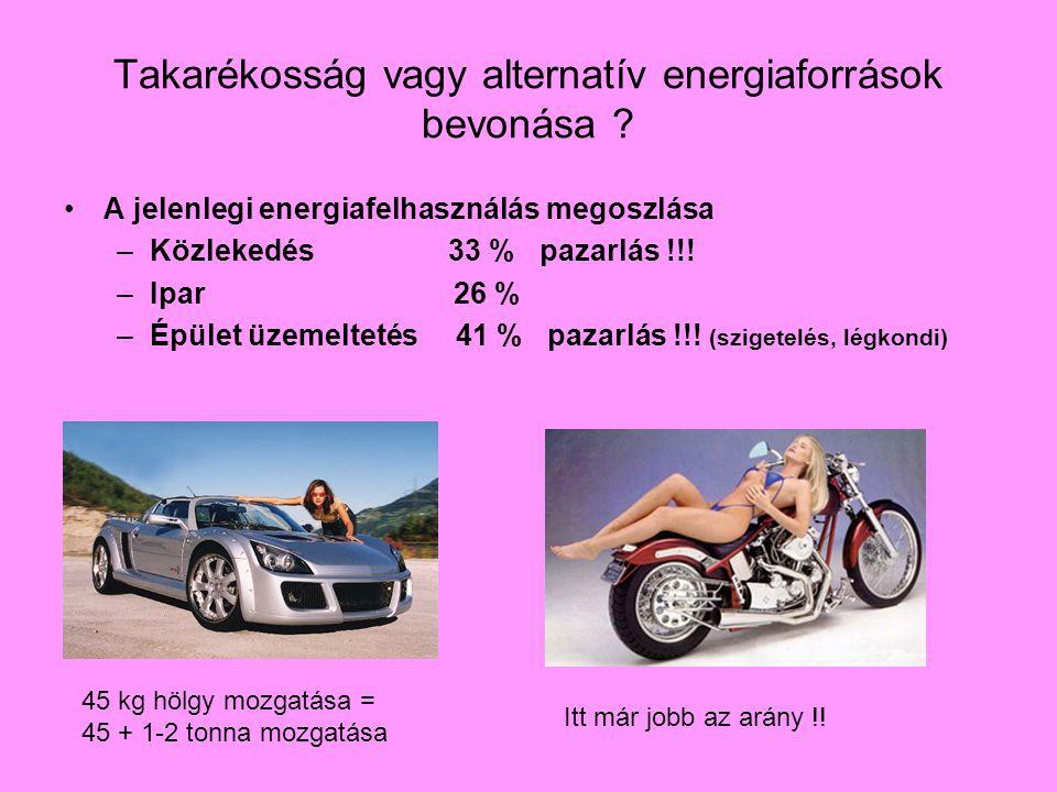 Takarékosság vagy alternatív energiaforrások bevonása .