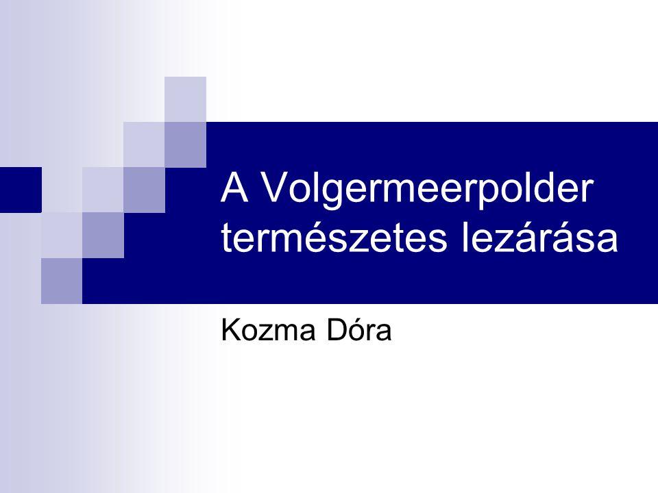 A Volgermeerpolder természetes lezárása Kozma Dóra