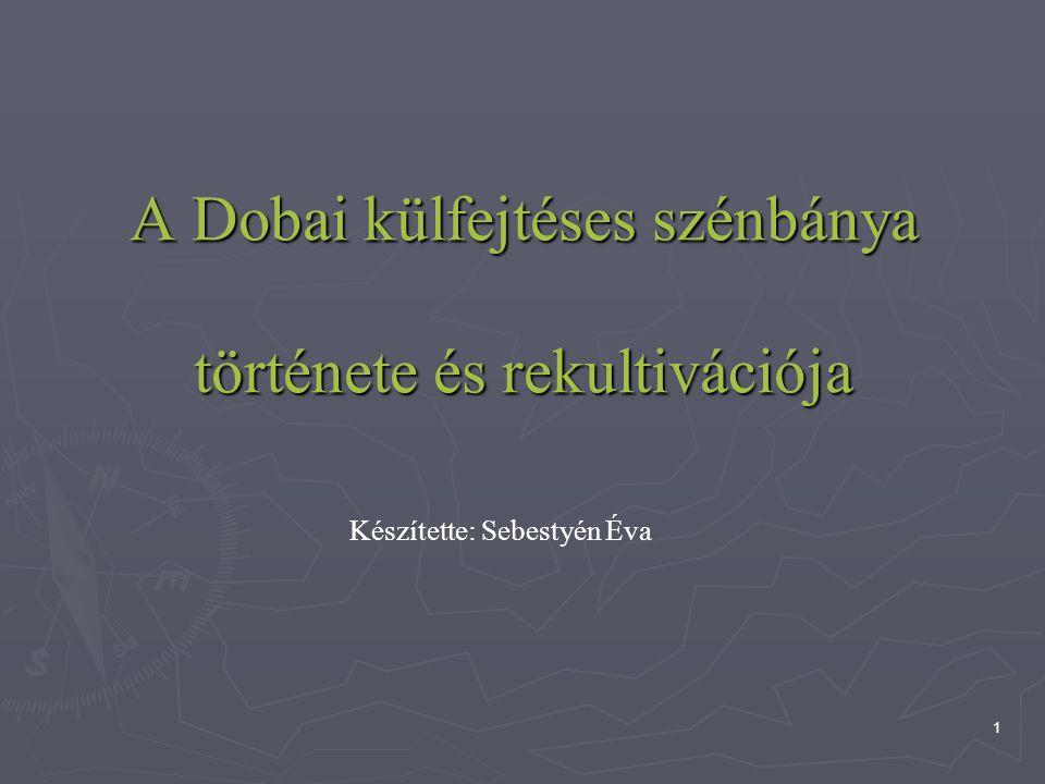 1 A Dobai külfejtéses szénbánya története és rekultivációja Készítette: Sebestyén Éva