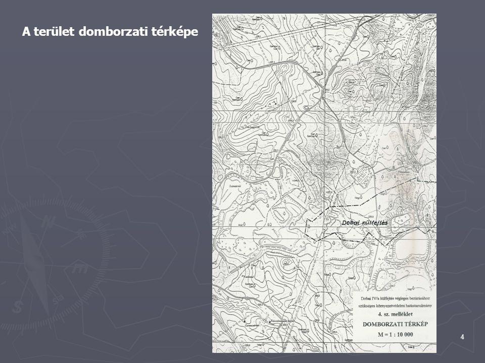 4 A terület domborzati térképe
