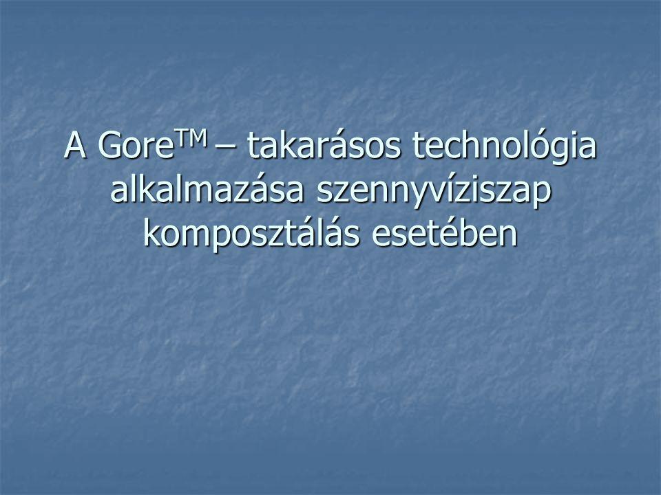 A Gore TM – takarásos technológia alkalmazása szennyvíziszap komposztálás esetében