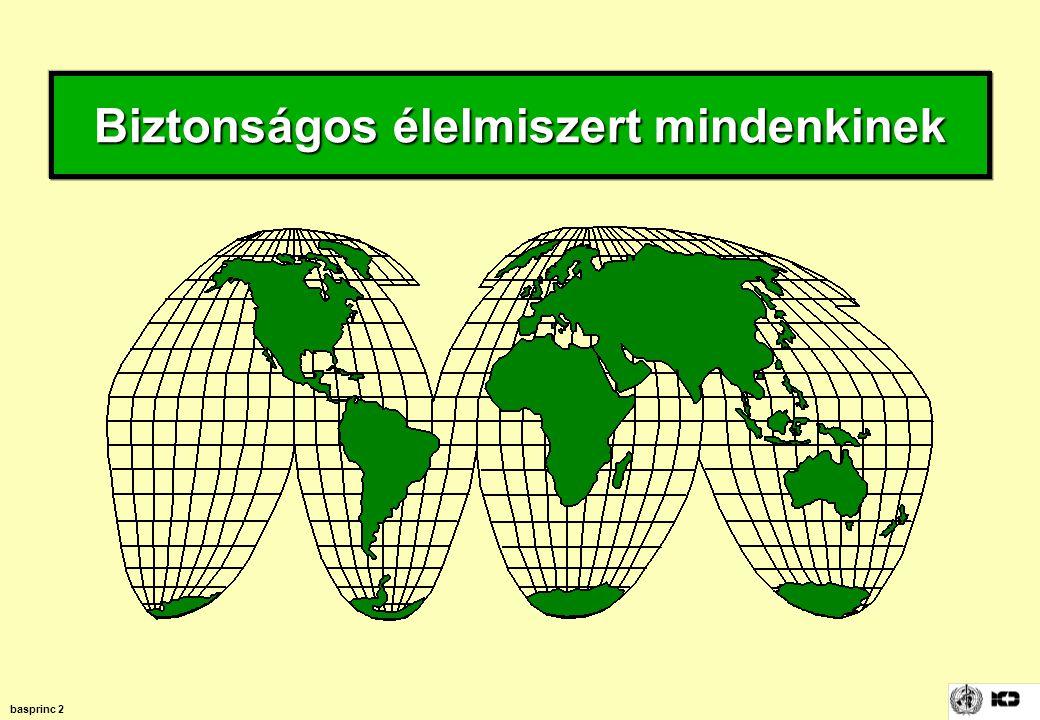 basprinc 23 Az élelmiszer-eredetű megbetegedések megelőzése Megelőzés, eliminálás vagy csökkentés elfogadhatatlan patogének –szaporodása –túlélése –terjedése patogénekkel való szennyeződés/fertőződés