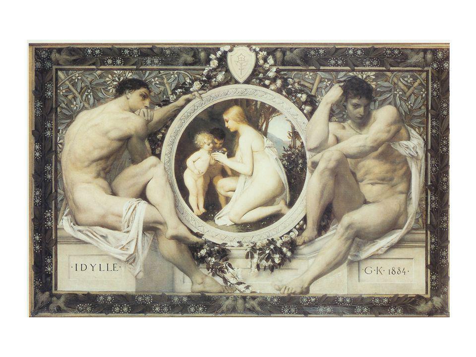 Fakultás-képek (1900): Vászonra festette őket a bécsi egyetem számára.