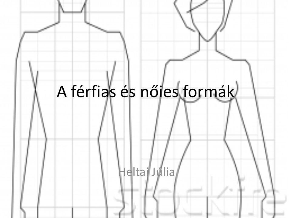 A férfias és nőies formák az emberi test biológiai elvonatkoztatásából keletkeznek.