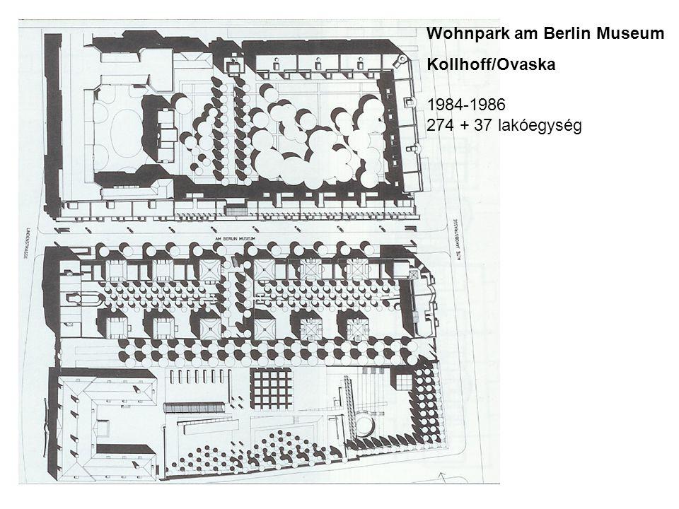 Wohnpark am Berlin Museum Kollhoff/Ovaska 1984-1986 274 + 37 lakóegység