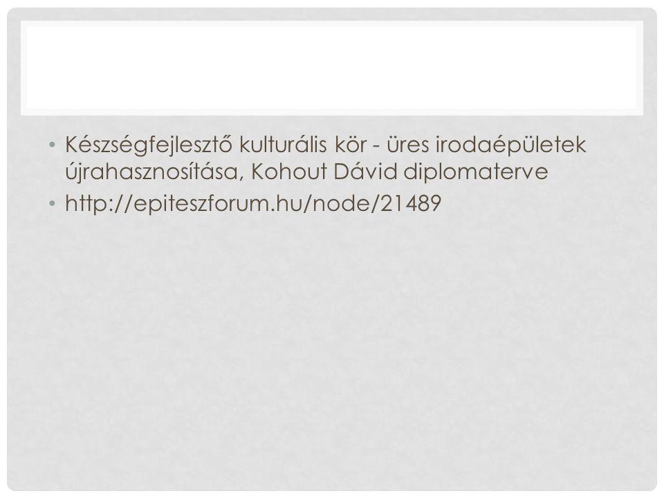 Készségfejlesztő kulturális kör - üres irodaépületek újrahasznosítása, Kohout Dávid diplomaterve http://epiteszforum.hu/node/21489