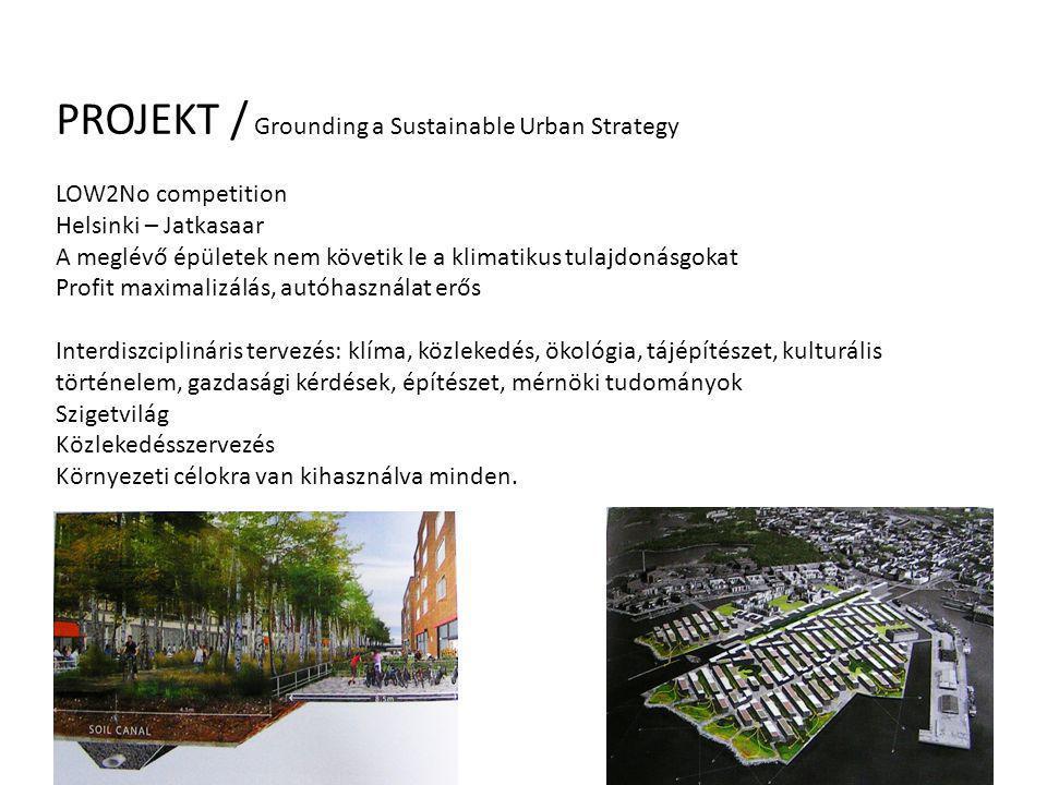 PROJEKT / Grounding a Sustainable Urban Strategy LOW2No competition Helsinki – Jatkasaar A meglévő épületek nem követik le a klimatikus tulajdonásgoka