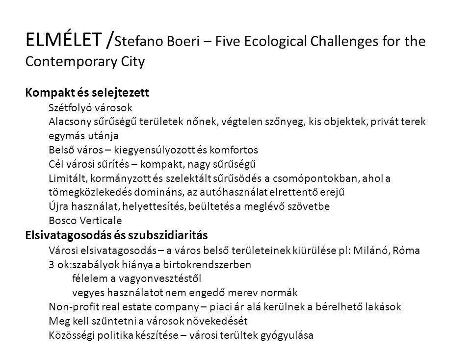 ELMÉLET / Stefano Boeri – Five Ecological Challenges for the Contemporary City Kompakt és selejtezett Szétfolyó városok Alacsony sűrűségű területek nő