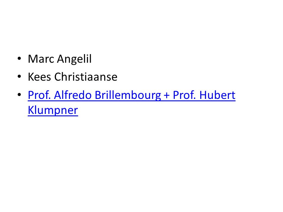 Marc Angelil Kees Christiaanse Prof. Alfredo Brillembourg + Prof.
