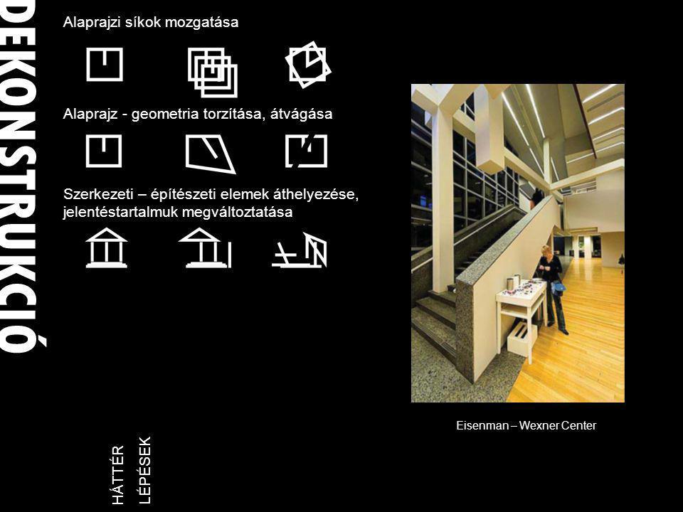 Frank O' Gehry 1929 (Toronto) - Los Angeles FRANK OWEN GEHRY 1959 Steeves Residence 1972-80 Santa Monica Place 1977-78 Gehry House 1982-84 Norton House -------- 1987-89 Vitra museum 1987-90- Walt Disney Concert Hall 1991-97 Bilbao Guggenheim program majd minél több darabra bontani, több lehetőség a megbízó bevonására a platóni ideáktól messze eltérve: meditáció, elmélyült gondolkodás helyett modell építés, kísérletezés