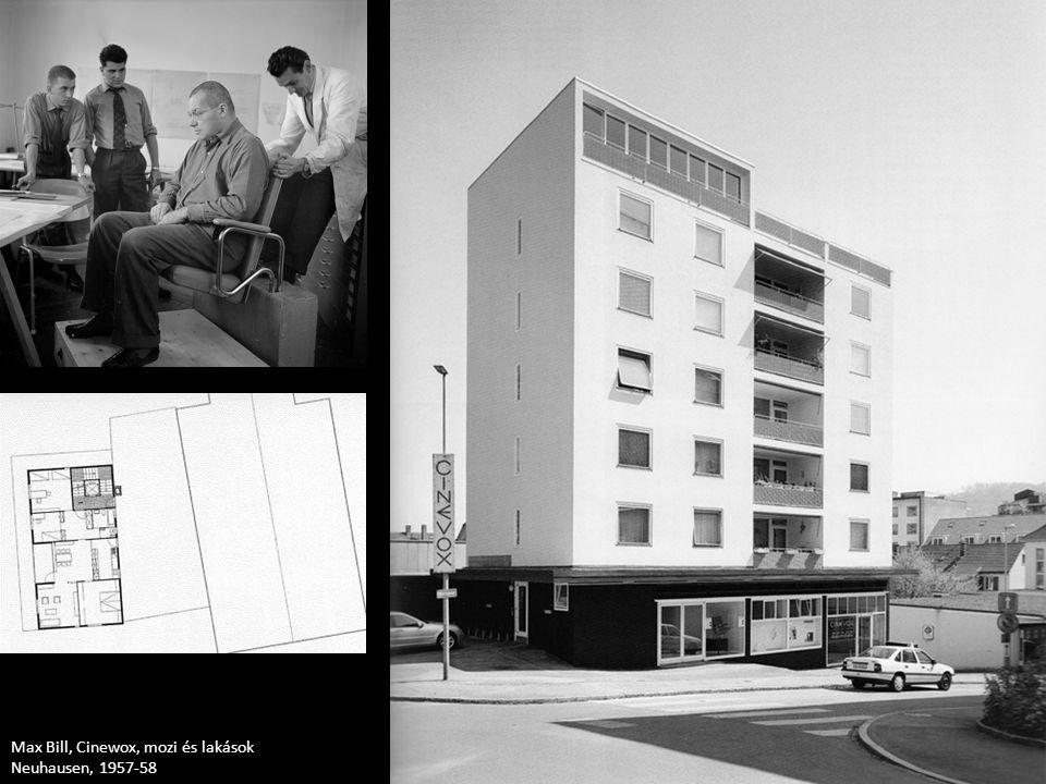 Max Bill, Cinewox, mozi és lakások Neuhausen, 1957-58