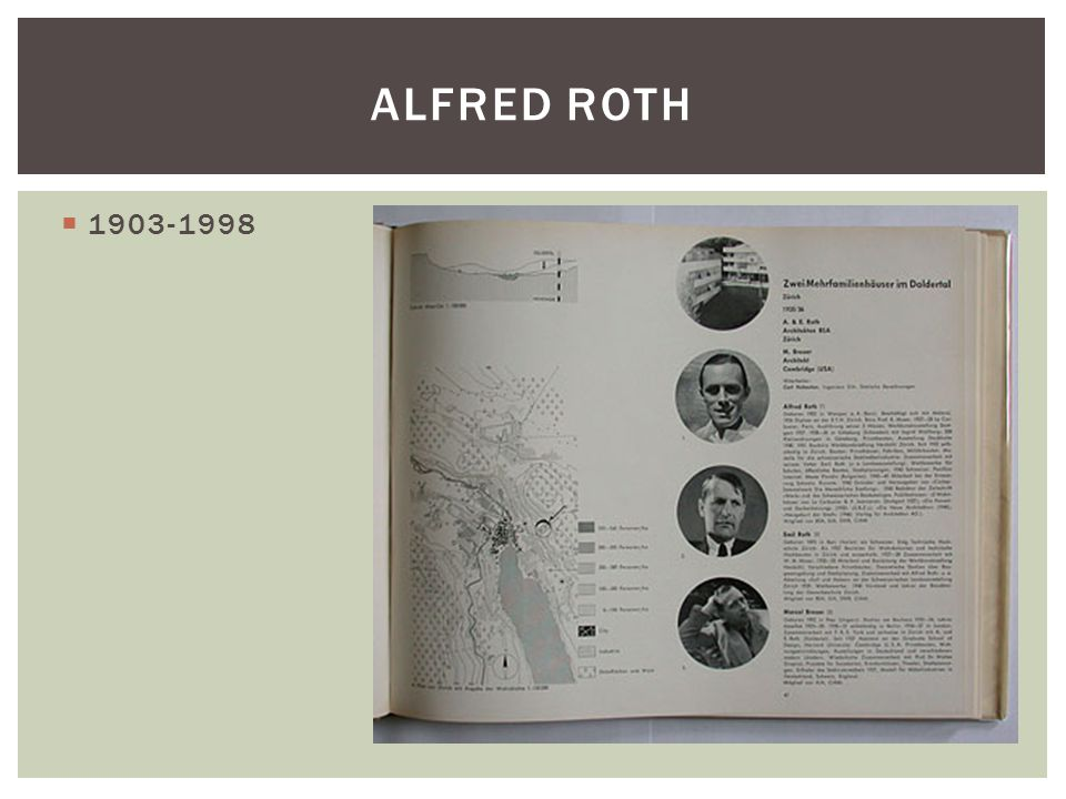 1903-1998 ALFRED ROTH