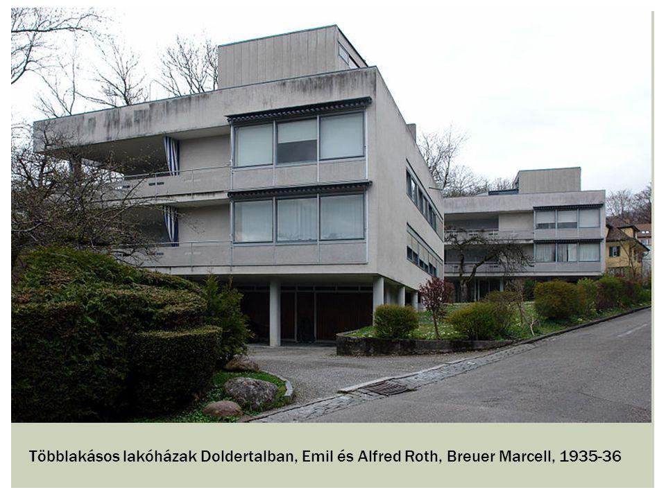 Többlakásos lakóházak Doldertalban, Emil és Alfred Roth, Breuer Marcell, 1935-36
