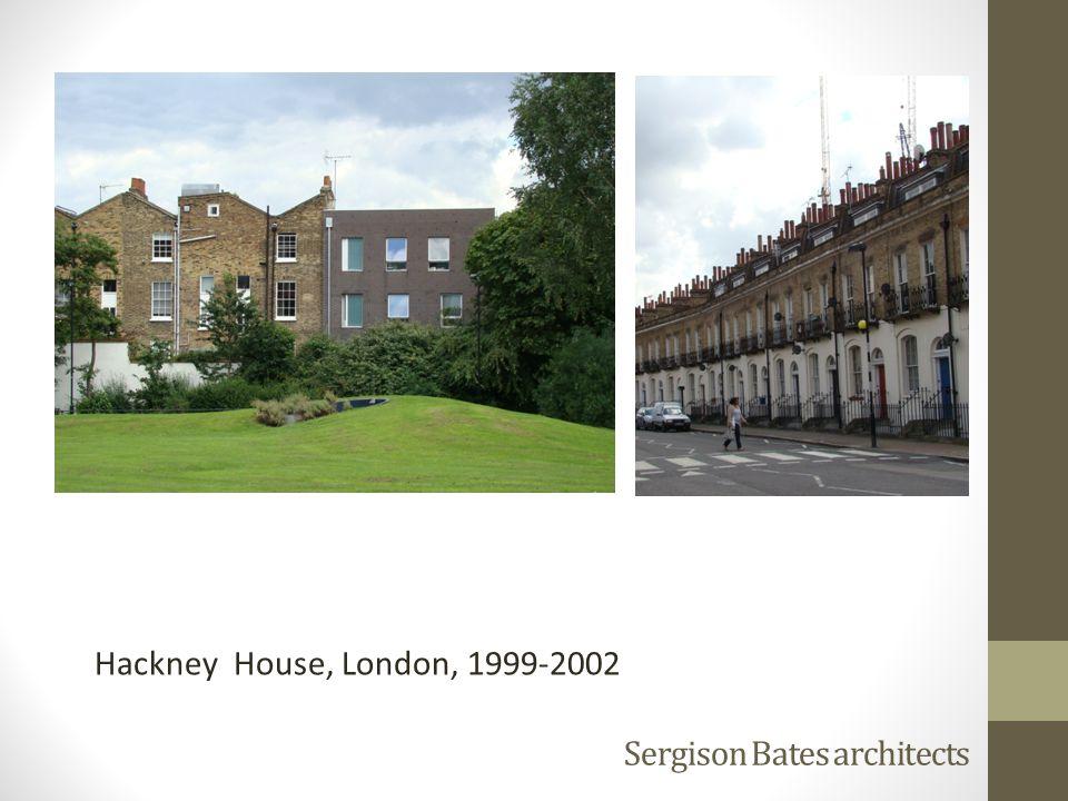 Sergison Bates architects Hackney House, London, 1999-2002