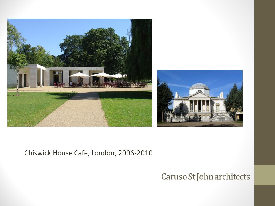 Caruso St John architects Chiswick House Cafe, London, 2006-2010
