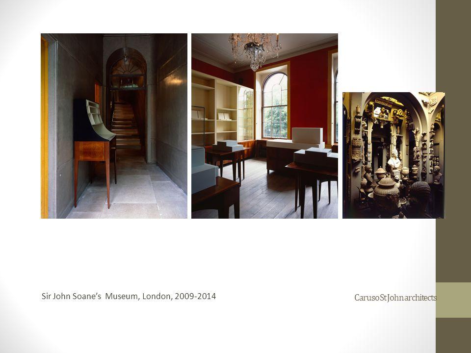 Caruso St John architects Sir John Soane's Museum, London, 2009-2014