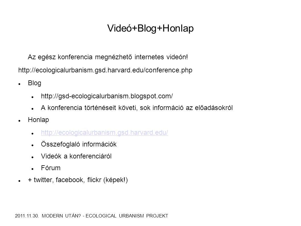 Videó+Blog+Honlap 2011.11.30. MODERN UTÁN.