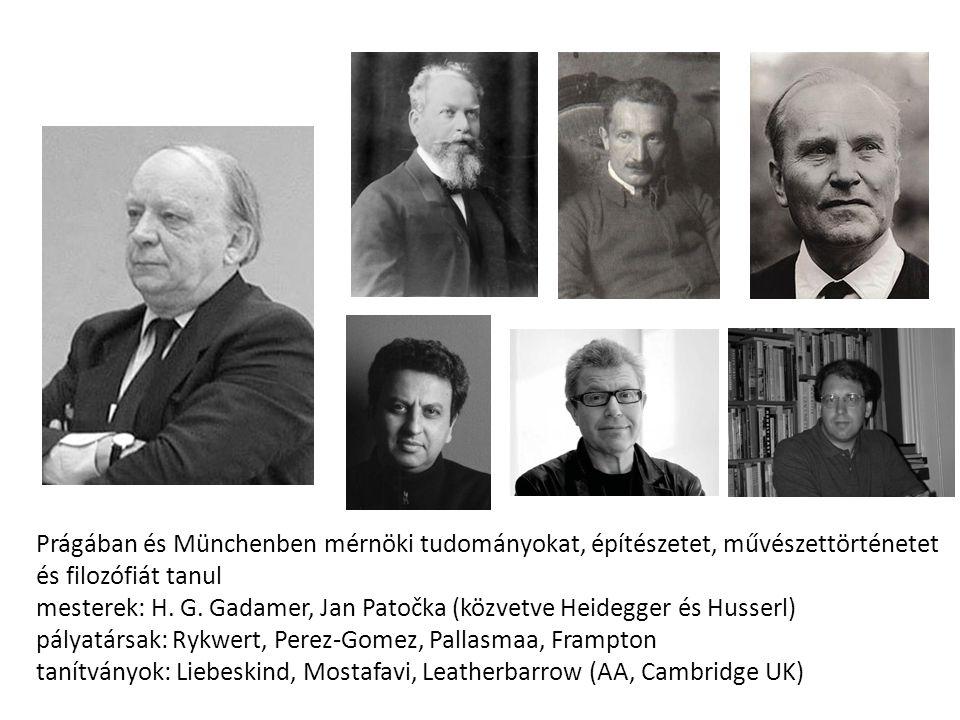 Prágában és Münchenben mérnöki tudományokat, építészetet, művészettörténetet és filozófiát tanul mesterek: H. G. Gadamer, Jan Patočka (közvetve Heideg