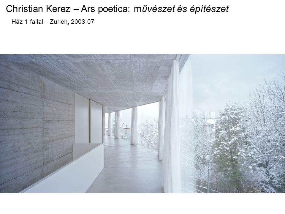 Christian Kerez – Ars poetica: művészet és építészet Ház 1 fallal – Zürich, 2003-07