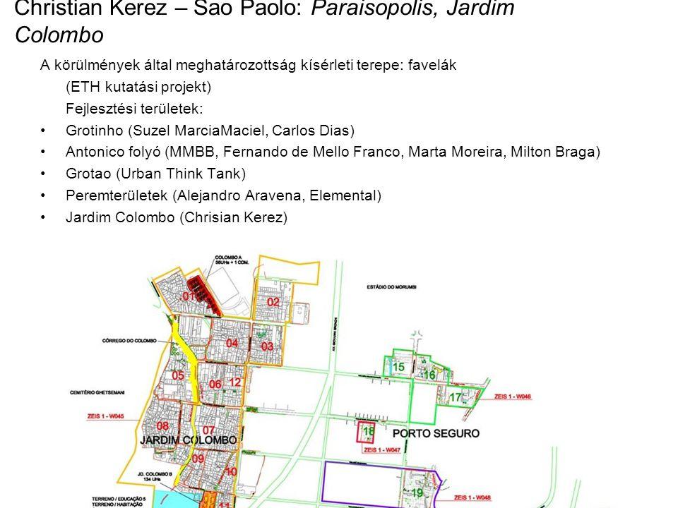 """Többrétegű komplex probléma: Vízellátás, szennyvízelvezetés fejlesztése privát és közös területek differenciálása: bontás és újraépítés városi formák vizsgálata (felmérés, kérdőívek) új építésű házak a vizsgálat alapján szórakoztató és kereskedelmi funkciók beépítése """"A város kísérleti stádiumban van...."""