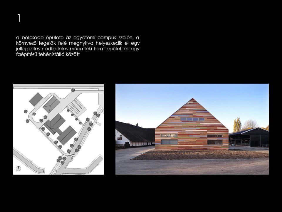 1 a ház úgy viselkedik, mint egyfajta kortárs farm, formájával, anyagaival és szerkezetével.
