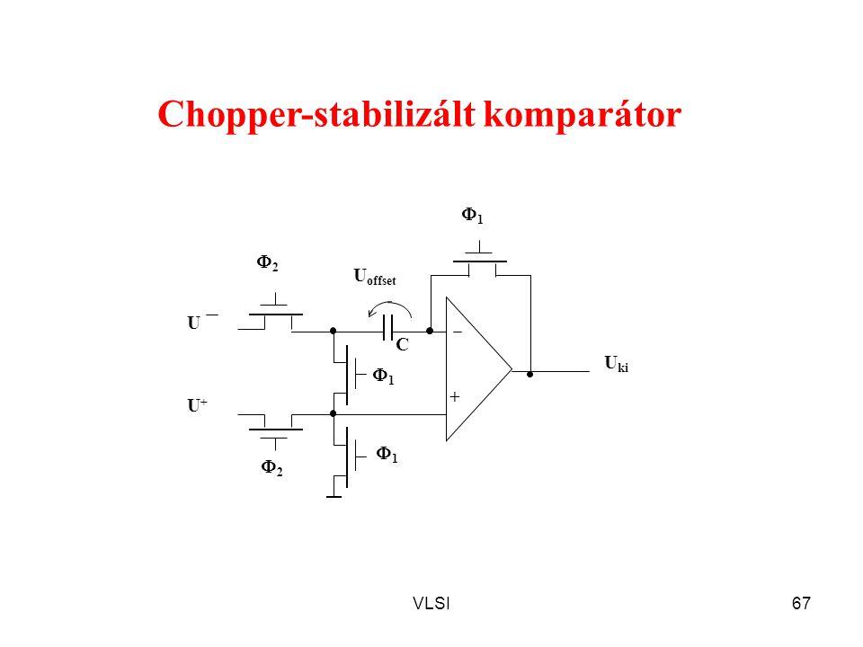 VLSI67 C U offset 11 11 22 22 11 + U+U+ U ki U Chopper-stabilizált komparátor
