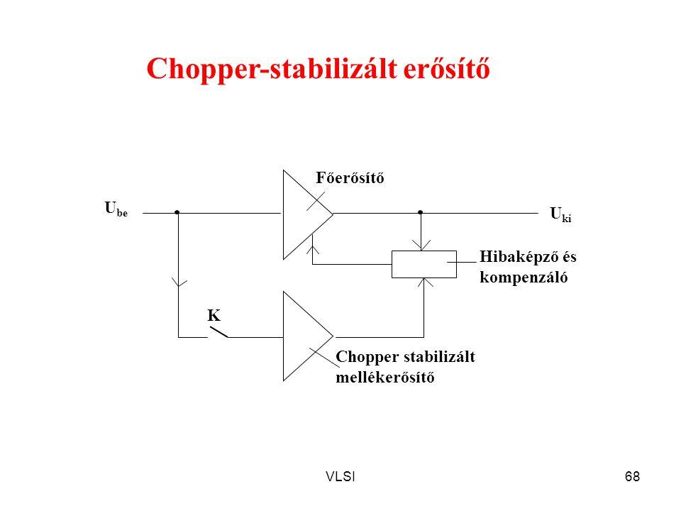 VLSI68 K Hibaképző és kompenzáló U ki Főerősítő U be Chopper stabilizált mellékerősítő Chopper-stabilizált erősítő