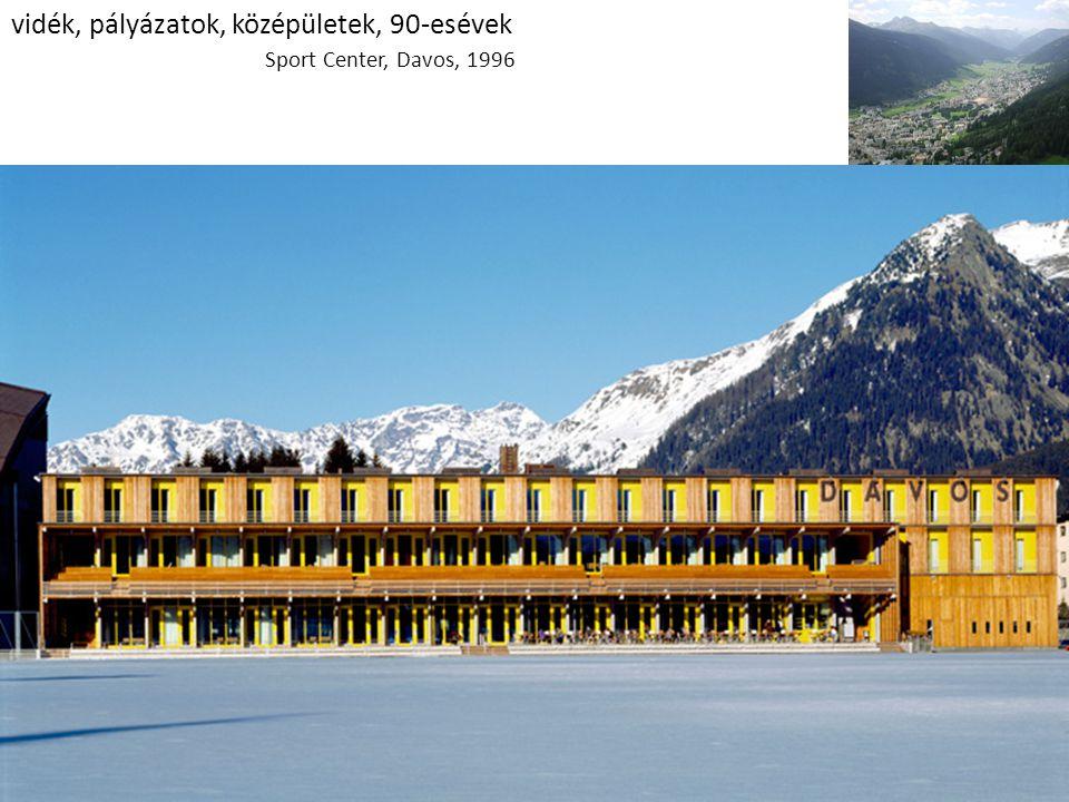 vidék, pályázatok, középületek, 90-esévek Sport Center, Davos, 1996