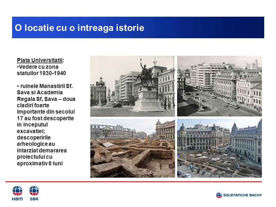 O locatie cu o intreaga istorie Piata Universitatii: Vedere cu zona statuilor 1930-1940 ruinele Manastirii Sf. Sava si Academia Regala Sf, Sava – doua