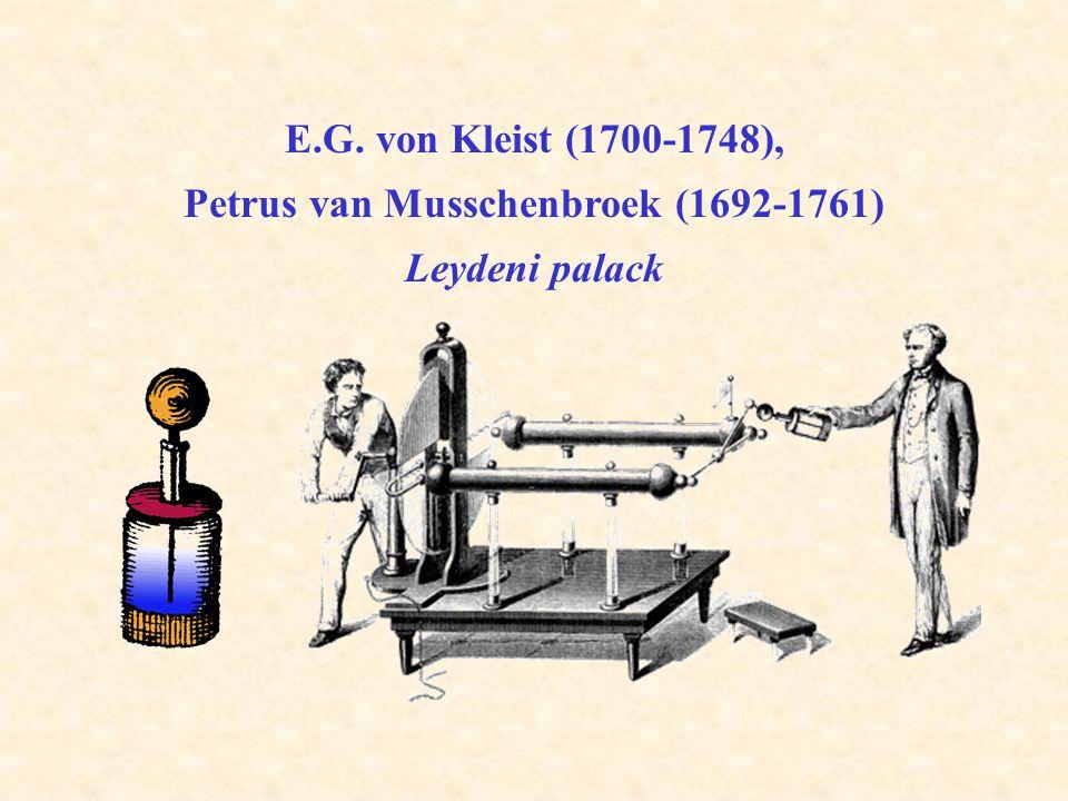 E.G. von Kleist (1700-1748), Petrus van Musschenbroek (1692-1761) Leydeni palack