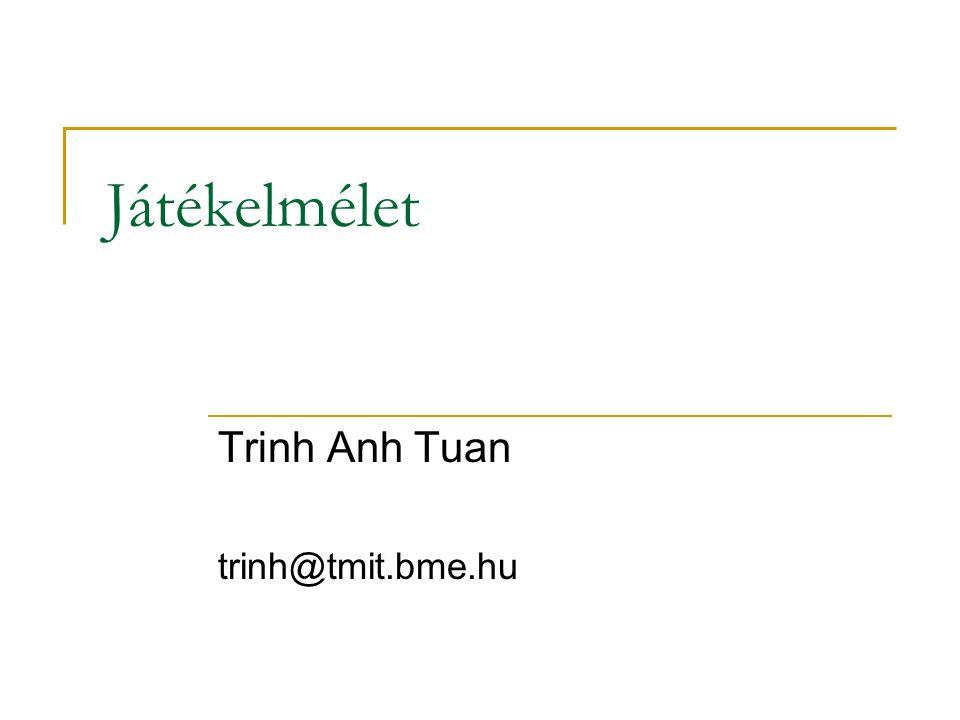 Játékelmélet Trinh Anh Tuan trinh@tmit.bme.hu