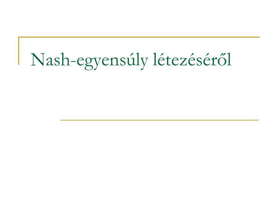 Nash-egyensúly létezéséről