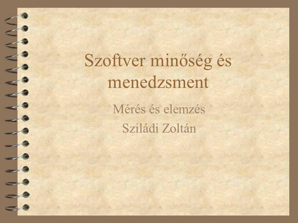 Szoftver minőség és menedzsment Mérés és elemzés Sziládi Zoltán